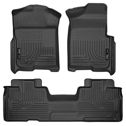 Husky Liners Front & 2nd Seat Floor Liners Fits 09-14 F150 SuperCab
