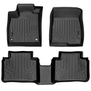 SMARTLINER Custom Fit Floor Mats 2 Row Liner Set Black