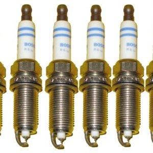 BMW Spark Plugs Platinum Plug Set Bosch OEM 158253 / FR7NP P332 (6pcs)