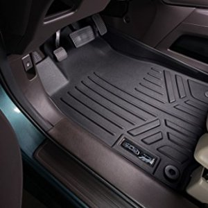 SMARTLINER Floor Mats 2 Row Liner Set Black for 2012-2016 Honda CR-V