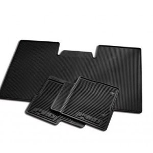 2010-2012 Ford F-150 All-weather Vinyl Floor Mats - Black, 3-pc.