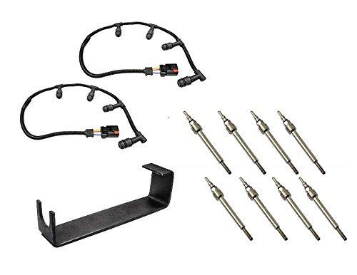 Michigan Motorsports Glow Plug Harness + 8 Glow Plugs - Fits Ford
