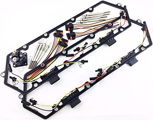 FORD 7.3L VALVE COVER GASKETS INJECTOR GLOW PLUG RELAY HARNESS