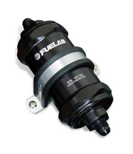 Fuelab 81802-1 Black 10 Micron Standard Length In-Line Fuel Filter