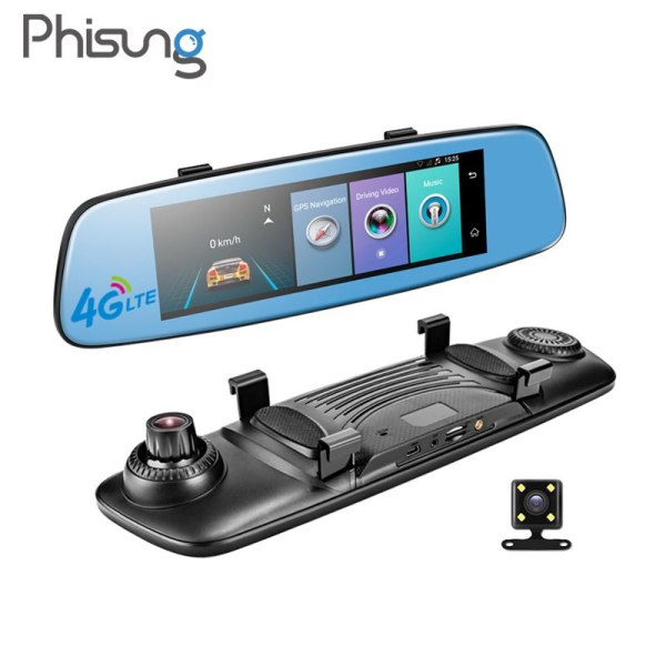 "Car DVR 7.84"" Touch ADAS Remote Monitor Rear view mirror with DVR"