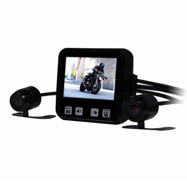 "Motorcycle DVR 2.0"" Touch Key Full HD 720P Waterproof Dual Cameras"