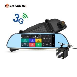 "3G Car Mirror GPS 6.86"" Android 5.0 Dash Cam Full HD 1080P"