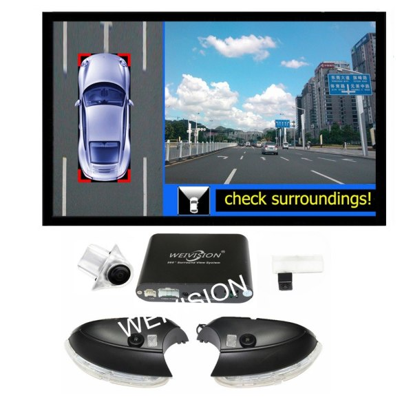 360 bird View Car DVR for VW Tiguan Passat Sagitar Magotan