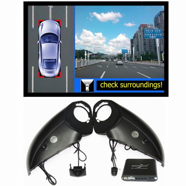 All round View Camera system for Audi Q3 Q5 Q7 A4L A6L with car dvr
