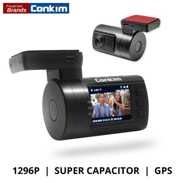 Conkim Ambarella A7 Dash Cam Mini 0806s Car DVR With GPS 1296P