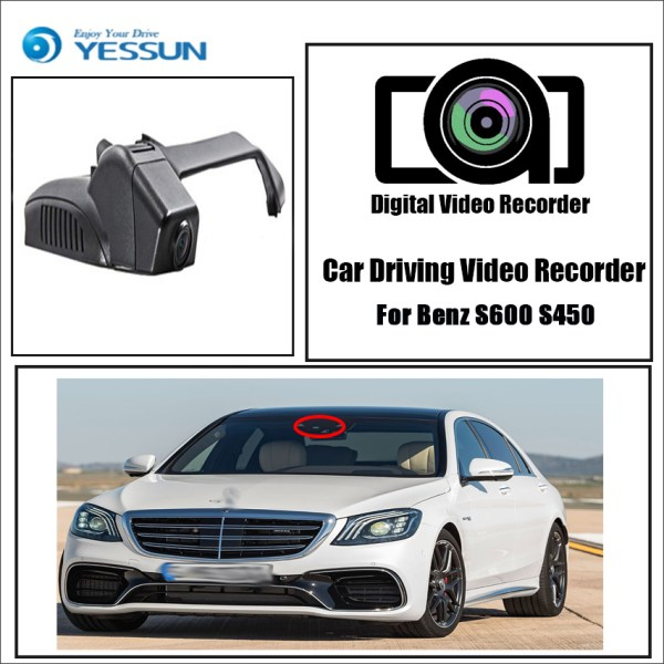 YESSUN for Benz S600 S450 Car Dvr Mini Wifi Camera FHD 1080P Driving Recorder Car Dash Cam Video Recorder Original Style