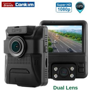 Conkim GS65H Dual Lens Dash Camera Front 1080P +Rear View Camera 720P