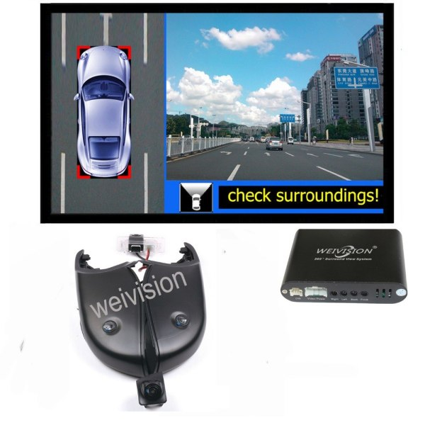 360 Degree bird View Car DVR Recording with parking Monitor System