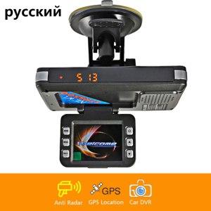 Car 3 in 1 combo speed camera signal warning GPS locator radar detector DVR dash cam