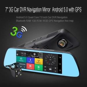 DVR Camera Mirror Android 5.0 GPS navigation Bluetooth