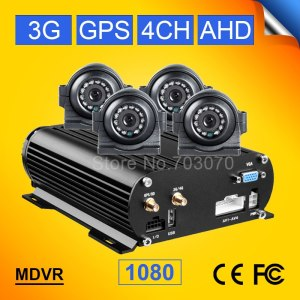 4CH HDD Vehicle Car Mobile Dvr With 3G Real Time Video
