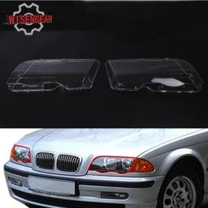 2x Headlight Lens Headlamp Cover For BMW E46 3 Series