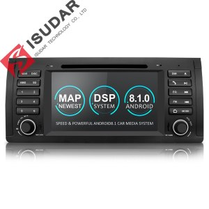 Isudar Car Multimedia player Android 8.1 GPS One Din DVD Player For