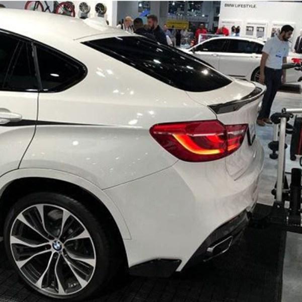 For BMW X6 E71 Modified M-Perform Style Fiberglass Primer Rear Luggage