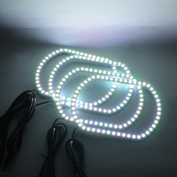 LED Light DRL Wireless Bluetooth Controller Headlights