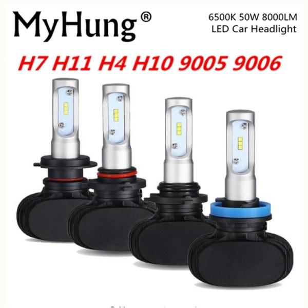 MyHung S1 Car Headlight 50W 8000LM Automobile Bulb LED Light