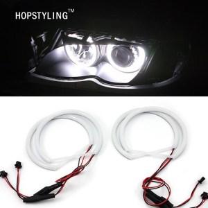 Xenon White Cotton light LED Angel eyes for BMW E46 Non projector BMW E39