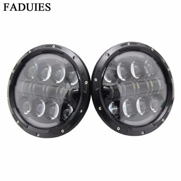 Round LED Headlight With DRL High Low Beam For JEEP Wrangler