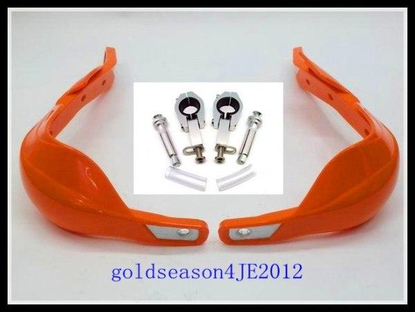 Orange Fat Bar Handguards Raptor 1 1/8'' 28mm mounting kit Motorcycle