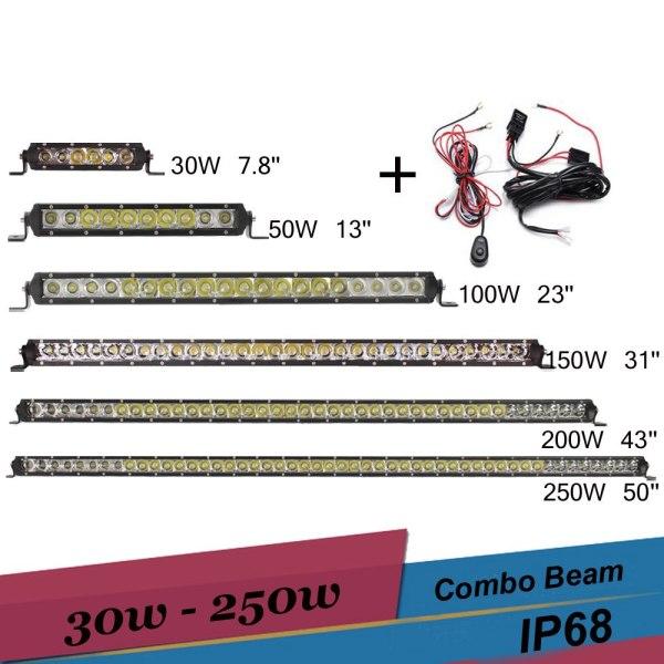 LED Light Bar Offroad Driving Fog light 30w 50w 100w 150w