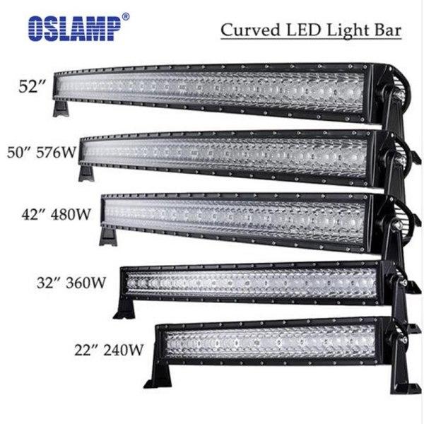 Curved LED Light Bar Offroad Combo Beam Bar Light Truck