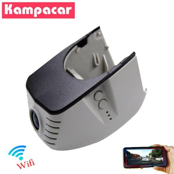 Kampacar Wifi 1080P Auto Car Recorder Dvr Dash Cam Dual Lens Rearview Camera for Audi a3 8p 8v a4 b8 b7 b6 a5 a6 c5 c6 c7 q3 q5