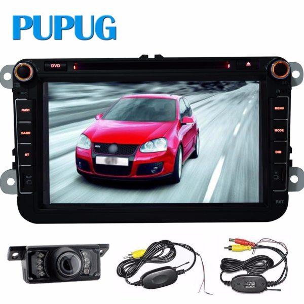2Din 8inch Quad core Android vw car dvd for Polo Jetta Tiguan passat b6 B5 cc skoda fabia mirror link wifi Radio in dash+camera