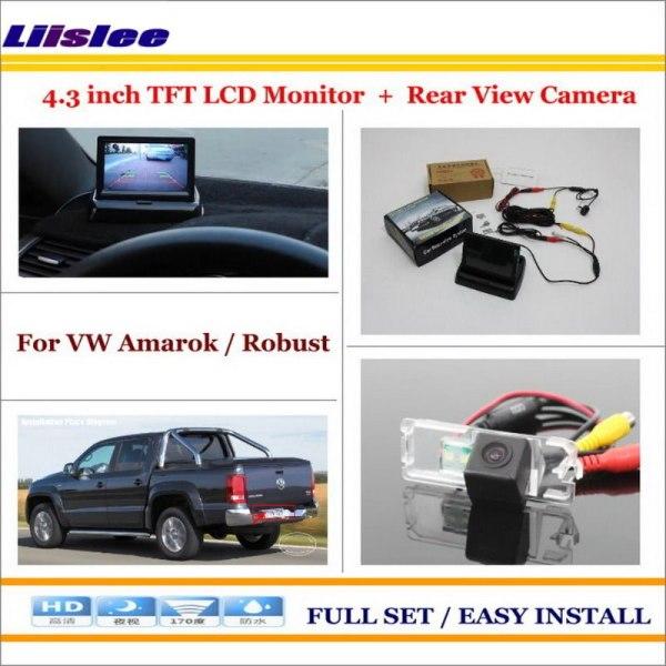 "Liislee For Volkswagen VW Amarok / Robust 2010~2014 Car Reverse Rear Camera + 4.3"" TFT LCD Monitor = 2 in 1 Parking System"