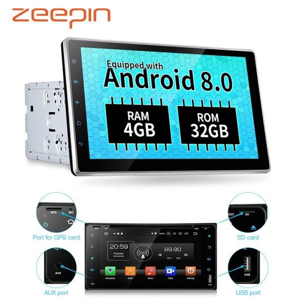 Android 8.0 Car Multimedia Player GPS 4G WiFi 10.1'' Bluetooth Auto Audio Radio Mirror Link AV Out Camera OBD 4+32GB for VW Honda