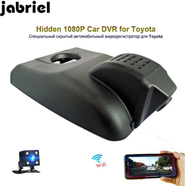 Jabriel hidden 1080P dash camera ios/android wifi car dvr video recorder dual lens rearview camera for Toyota Highlander 2018