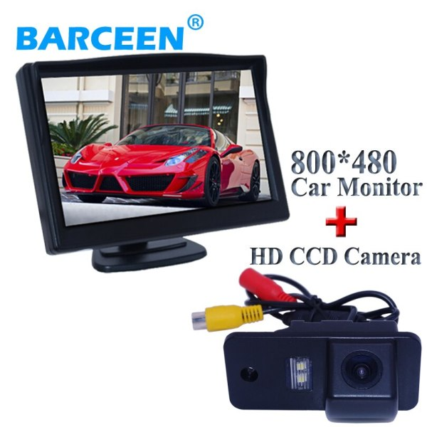 Water-proof special use type car rear reversing camera with car monitor apply for Audi A6L