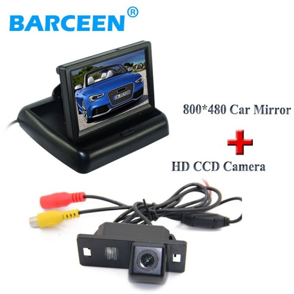 """4.3"""" foldable lcd car monitor +car rearview camera plastic shell material 170 angle for Audi A4L 2013~2014 / TT/ A5/ A6/Q5"""