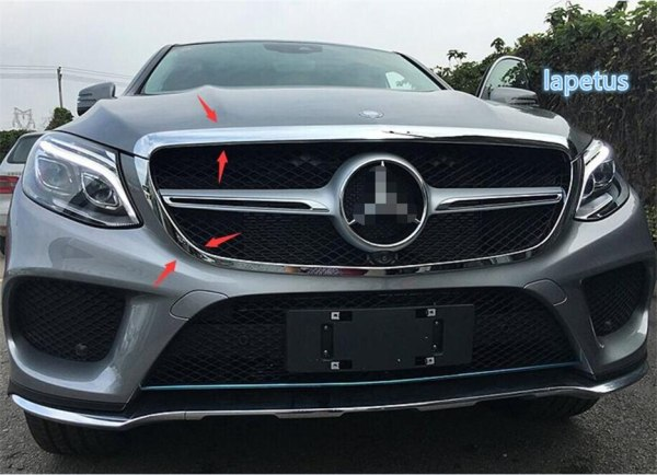 Mercedes-Benz GLE Coupe Front Middle Grill Trim