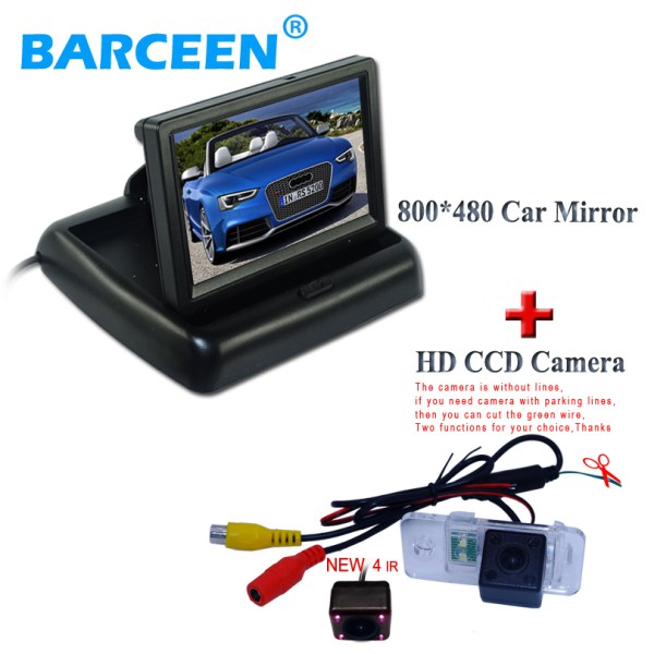 Car backup camera with ir lights use for AUDI A6L 2009~2011 /A4 /A3/ Q7 /S5