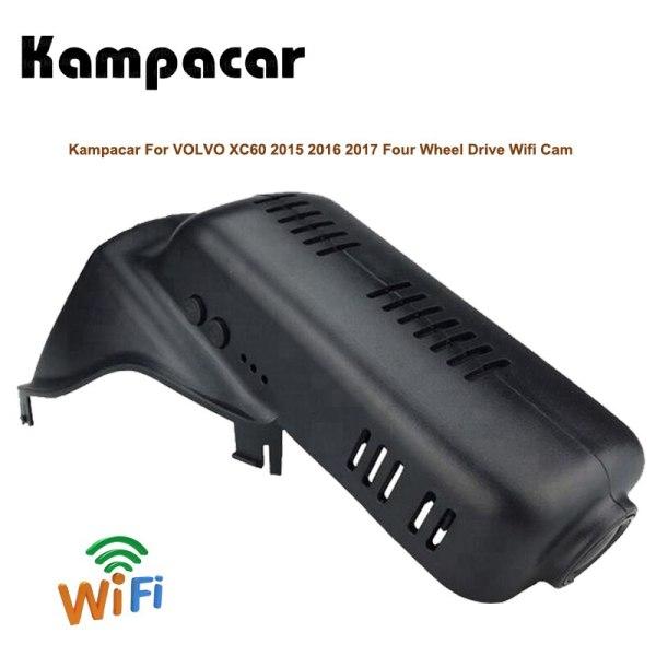 Kampacar Car Wifi DVRs For Volvo XC60 Four Wheel Drive Video Registrar 2015 2016 2017 Car Recorder Dash Cam Auto Camera HD Dvr
