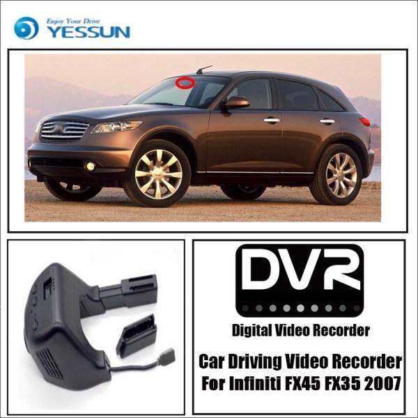 YESSUN for Infiniti FX45 FX35 2007 Car Driving Video Recorder Wifi DVR Mini Camera Novatek 96658 Dash Cam Night Vision