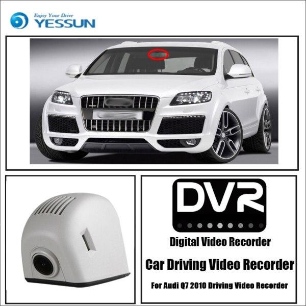 YESSUN Car DVR Wifi Video Recorder Dash Cam Camera for Audi Q7 4L V12 2007~2015 Night Vision APP Control Mobile Phone