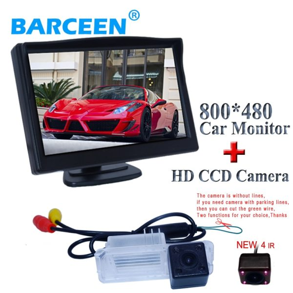 HD CCD image sensor +auto +wire+170 wide view lens angle car rear view monitor and car rear camera for Volkswagen GOLF 6/Magotan