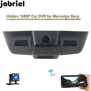Jabriel 1080P hidden car dvr wifi driving recorder dash cam dual lens for 2015 Mercedes Benz GLK260 GLK300 GLK350 X204 Deluxe