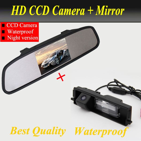 For CCD Chery Tiggo / toyota rav4 Camera Special Car Rear View reverse parking Camera With 4.3 inch Car Rearview Mirror Monitor