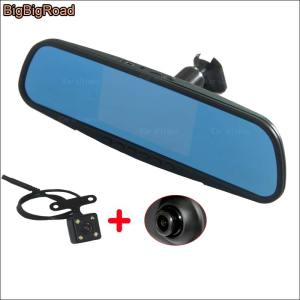 BigBigRoad Car Mirror DVR Driving Video Recorder Dash Cam night vision Parking Monitor keep car original style For ford edge