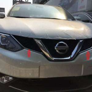 QASHQAI CHROME FRONT MESH GRILLE GRILL HEAD LIGHT LAMP COVER
