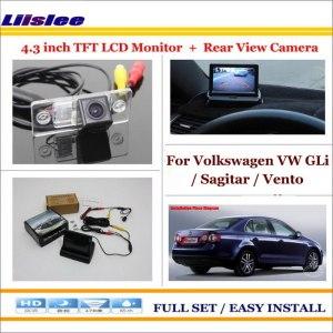 "Liislee For Volkswagen VW GLi / Sagitar / Vento 2005~2011 - Car Reverse Rear Camera + 4.3"" LCD Monitor = 2 in 1 Parking System"
