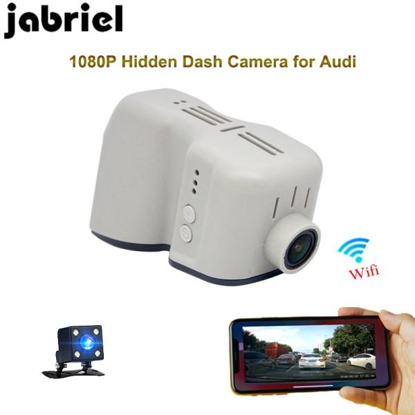 Jabriel Hidden HD 1080p car recorder camera wifi driving recorder dvr dual lens Dash camera for 2008-2013 Audi q7 q5 a6