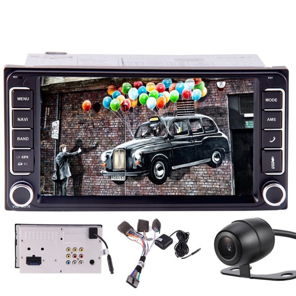 Navigator Auto FM AM Radio Support Bluetooth Mirror link Steering Wheel Control+Free Backup Camera and Map Special for Toyota